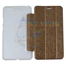 QCF Flip Case Lenovo PHAB Plus PB1-770N / Leather PHAB Plus PB1 770N / Case Hp / Flip Cover PB1-770N - Coklat