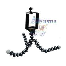 QCF Mini Tripod Gurita / Phone Holder + Gratis Head Holder - Hitam