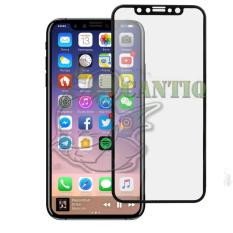 QCF Tempered Glass Full Screen Apple iPhone X (Only Depan) / Screen Protector iPhone X / Anti Gores Kaca / Temper iPhone X - Hitam