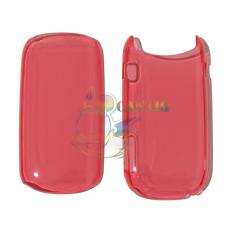 QCFCrystal Transparant  Hardcase Samsung Caramel GT-E1272 Back Case Samsung E1272 - Merah Bening