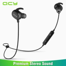 QCY QY19 Headphone In-Ear QCY19 Stereo Sport Bluetooth v4.1 Sweatproof - QY19 Bluetooth Headset Wireless Earphone Sport Driving English Voice 2016 New For iPhone Xiaomi PC Smartphones Brand Origin QCY Bluetooth Headphone - Hitam