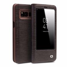 Qialino II Tank Case Cover Ultrathin Tas Lipat Tidur Bangun untuk Samsung Galaxy S8 Plus, Kadal Pola Strip-Intl