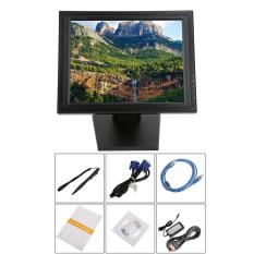 Qnstar 17 Inch LED TFT LCD TFT Layar Sentuh 1024X768 untuk Restoran Ritel Bar Hitam