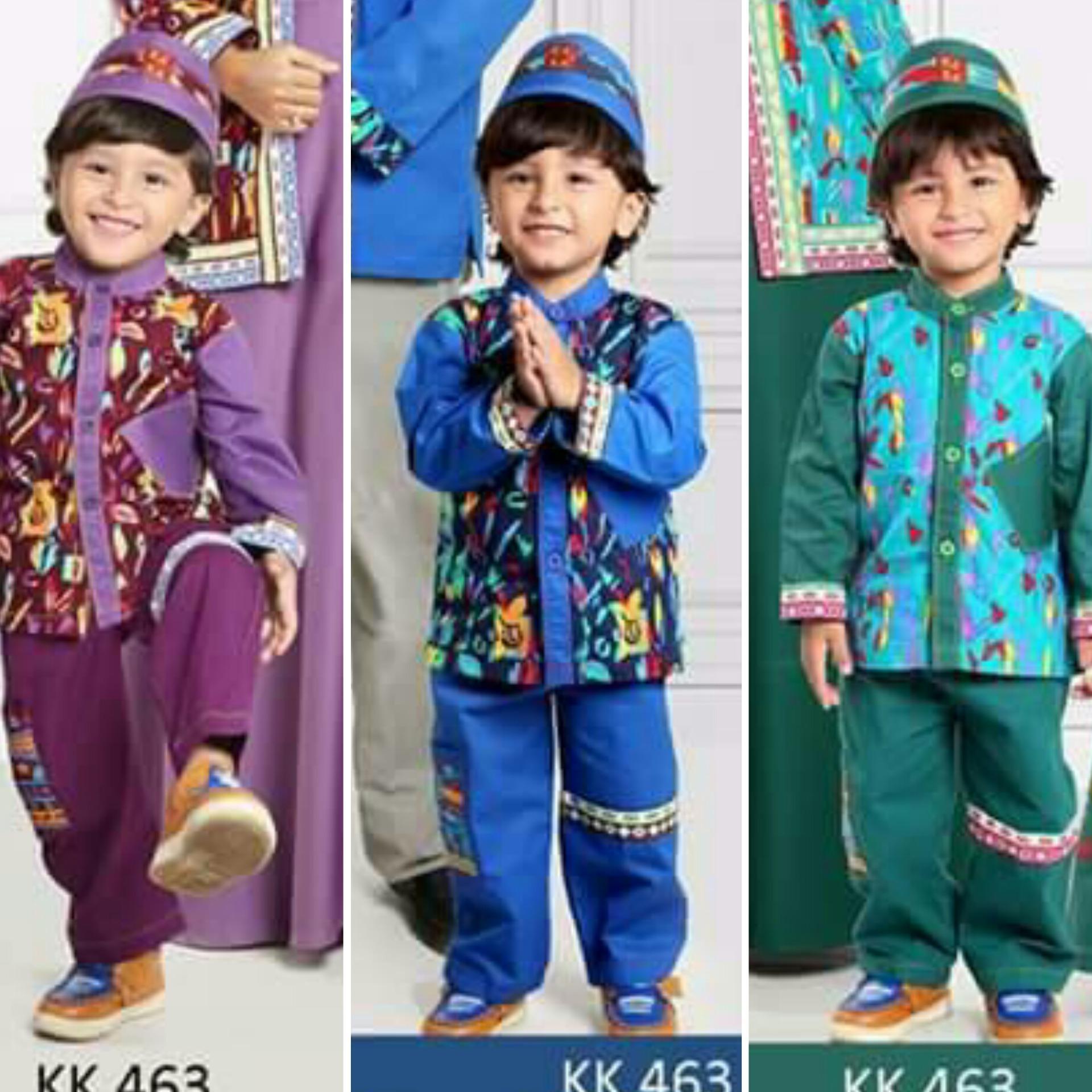 Qonitah Project KK 466 Size 1 Original Keke Busana Koko Anak Lengan Panjang