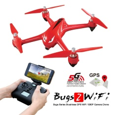 Cuci Gudang Quadcopter Drone Mjx Bugs 2 W Rth B2W Brushless Fpv Camera 1080P Wifi 5 8Ghz Red