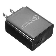 Beli Qualcomm Cepat Biaya Oc 2 Usb Adaptor Charger Dinding Rumah Perjalanan Cepat 15 Watt Aman Hitam Kami Cicilan