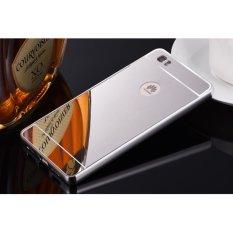 Taoyi Kualitas Aluminium Bingkai Logam Plating Cermin Case untuk Huawei P8 Lite (perak)-Intl
