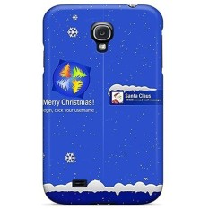 Quality Huoner Case Cover With Santa Login Sreen Nice Appearance Compatible With Galaxy S4