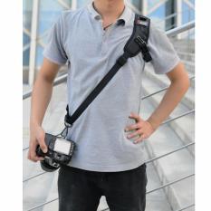 CEPAT Cepat Kamera Selempang Bahu Tunggal Tali Hitam untuk Canon DSLR EOS 6D 70D 760D 750D 700D 650D 600D 1300D 1200D 100D 1100D-Intl