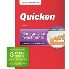 Quicken Premier 2018 Release – [Amazon Exclusive] 27-Month Personal Finance & Budgeting Membership - intl