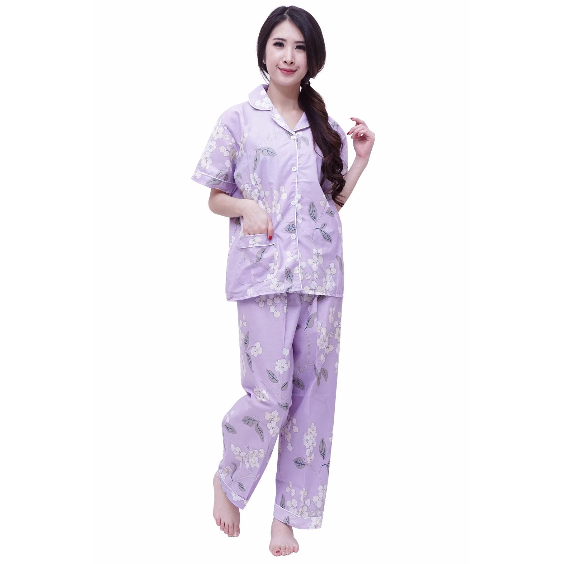 Jual Quincy Baju Tidur Freya Piyama Celana Panjang Purple Quincylabel