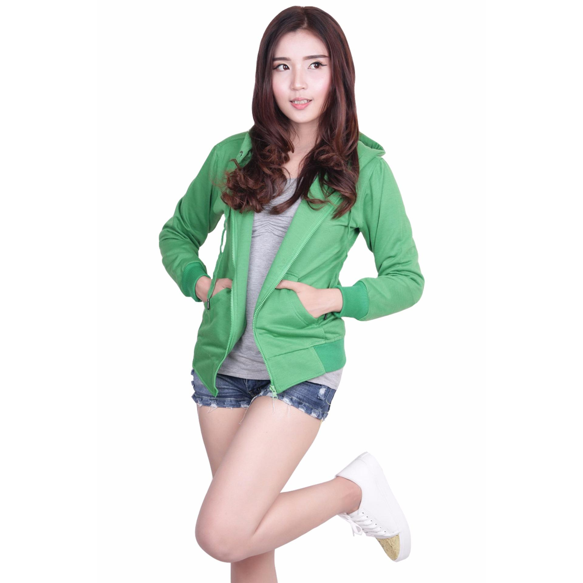 Jual Quincy Jacket Zipper Hoodie Women Green Quincylabel Online