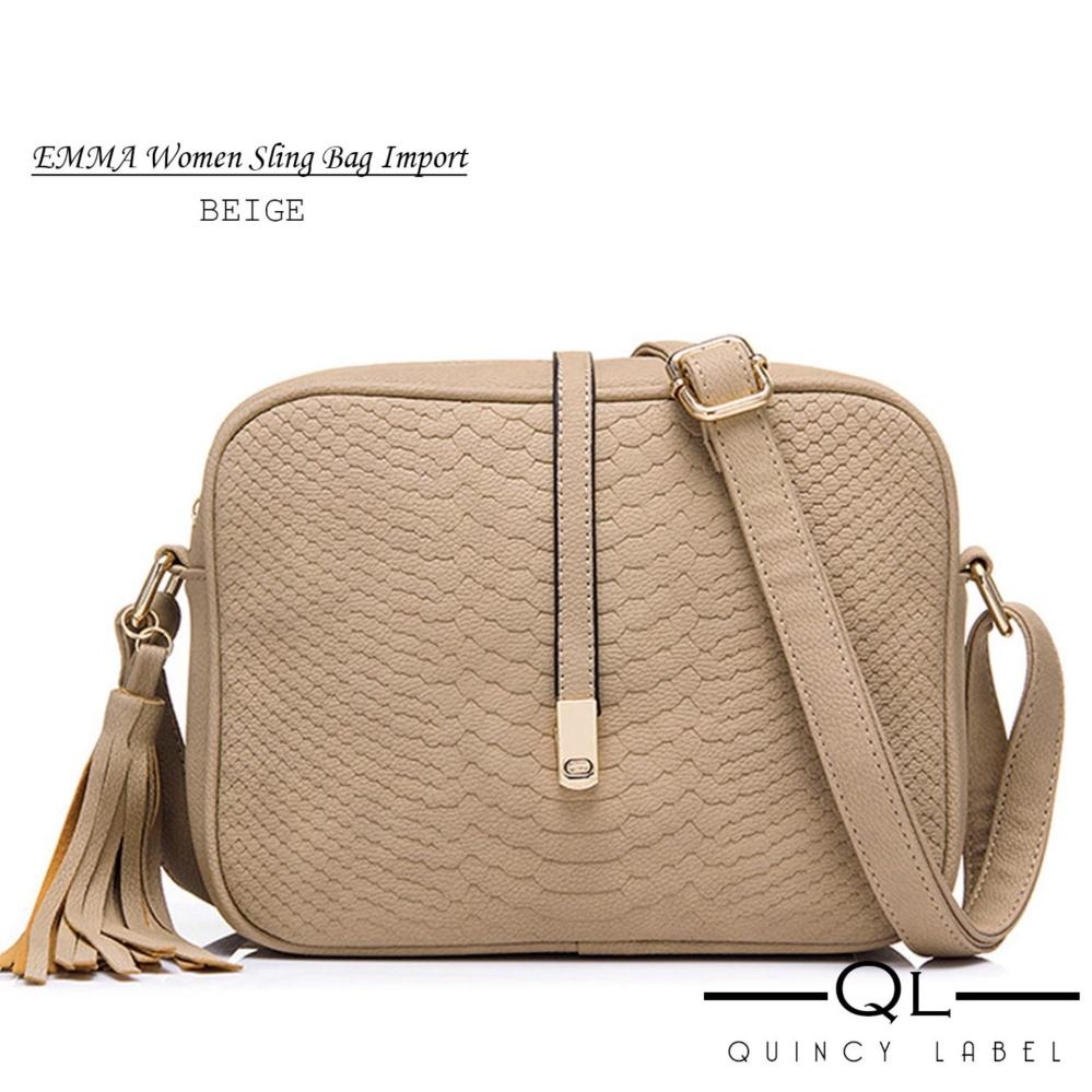 Quincy Label EMMA Women Sling Bag - Beige