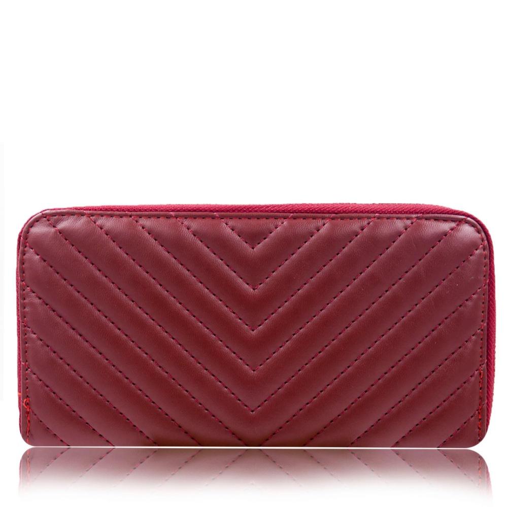 Beli Quincy Label Lauren Women Premium Wallet Dompet Wanita Maroon Kredit