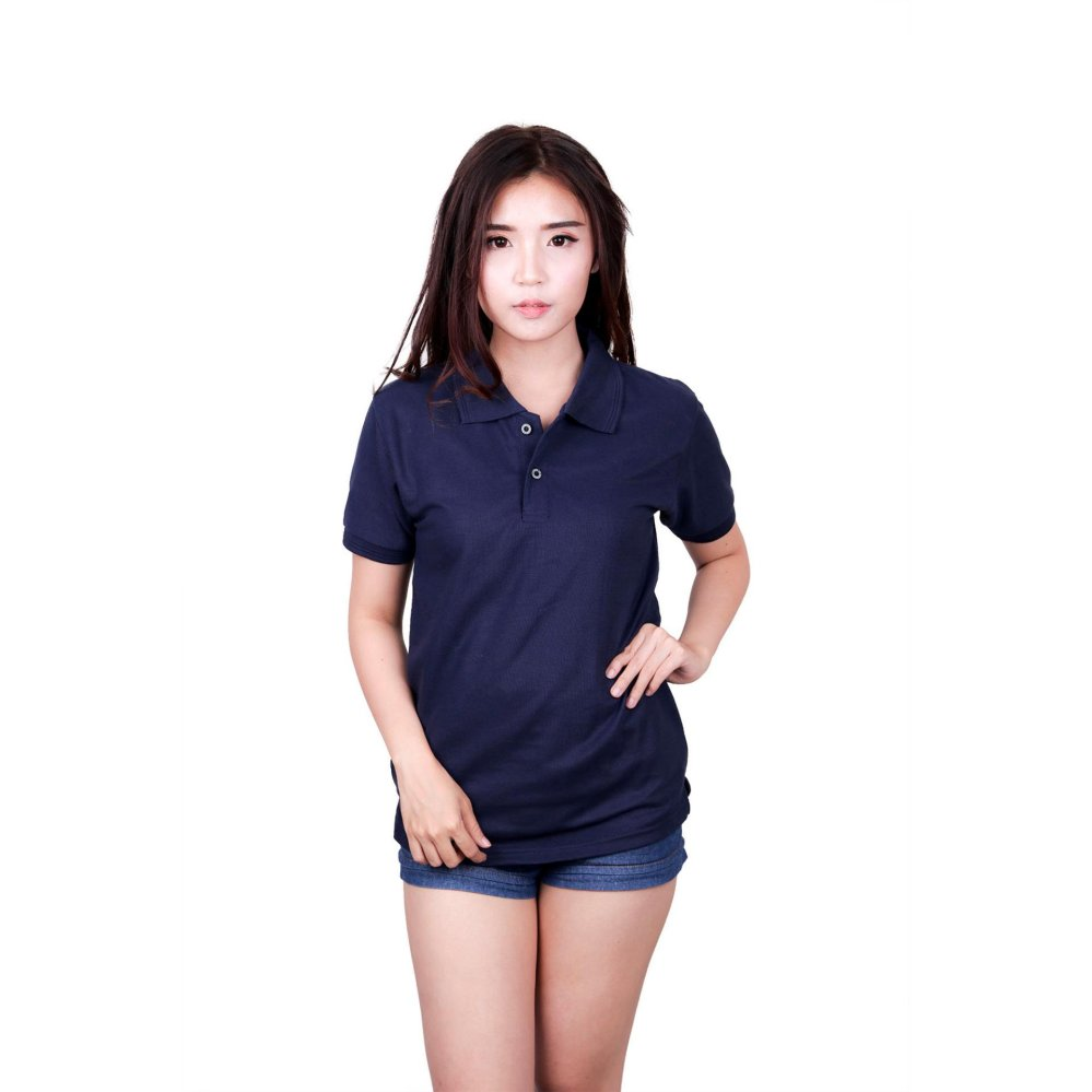 Quincy Label Women Polo Shirt Navy Original
