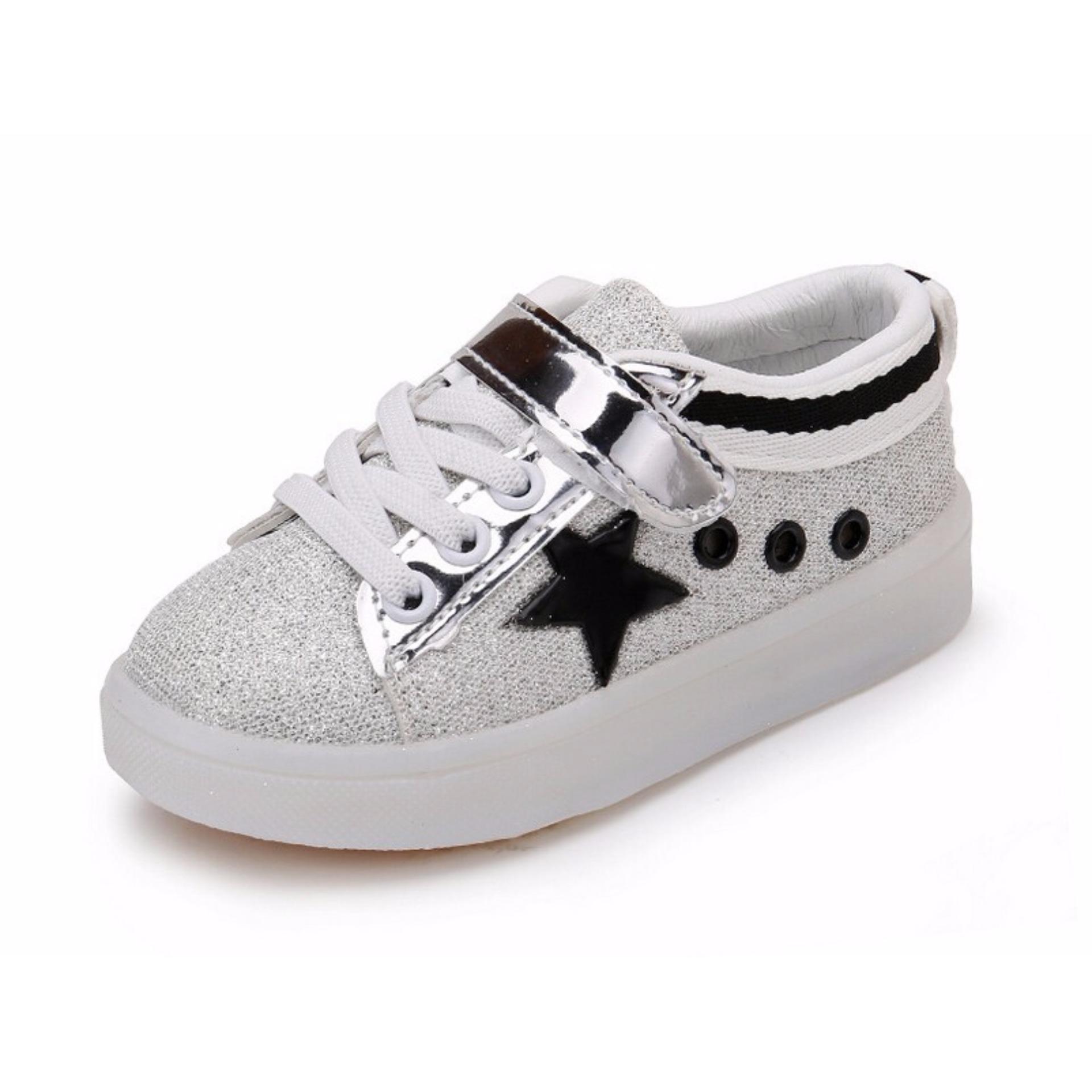 Toko Quincylabel Sepatu Anak Unisex Glitter Hitam Yang Bisa Kredit