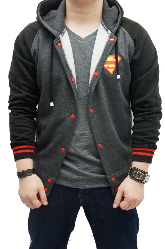 Harga Quincylabel Super Varsity Hoodie Dark Black Indonesia