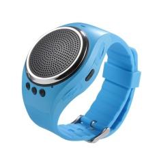 Quzhuo Olahraga Musik Bluetooth Nirkabel Speaker Watch A dengan FM Radio, Panggilan Handsfree, TF Kartu Bermain, Selfie Rana, Jam Alarm HP Anti-hilang untuk Smartphone, Hitam-Intl