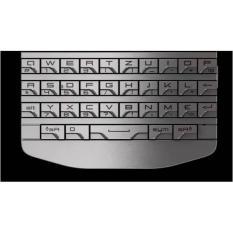 QWERTY Keypad BB BlackBerry PORSCHE DESIGN P9981 ORIGINAL  SILVER