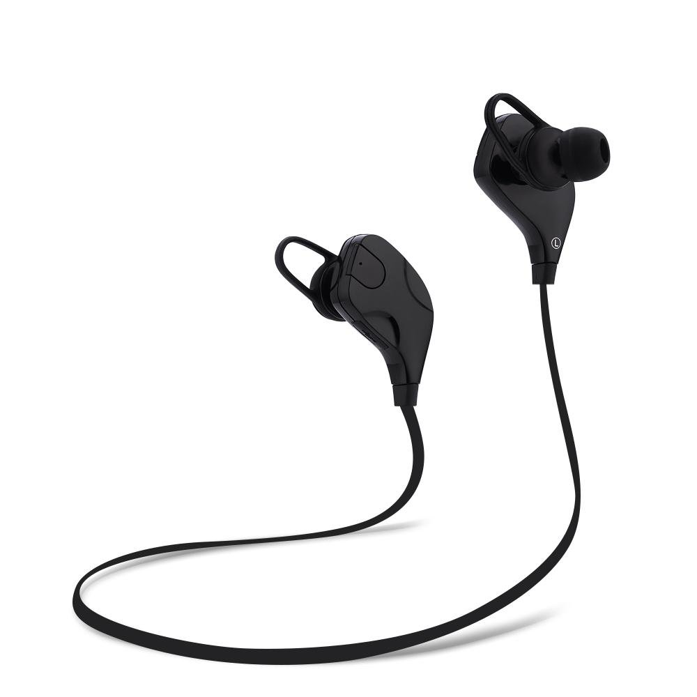 Beli Qy7S Bluetooth V4 1 Nirkabel Kebisingan Membatalkan Sport Earphone Headphone Hitam Intl Cicil