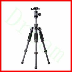 QZSD Q166C Lipat Ringan dan Serat Karbon Pendek Meja mini tripod & Kamera Kit Fold Hanya 20 Cm- INTL