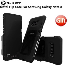 R-JUST Aluminium Metal Flip Case untuk Samsung Galaxy Note 8 Heavy Duty Shockproof Telepon Armor untuk Samsung Note 8 Case Note8 8-Intl