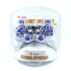 R-One Stik / Stick / Joystick Single R-One PC Mono Shock Joypad USB 2.0 - Lamp Biru