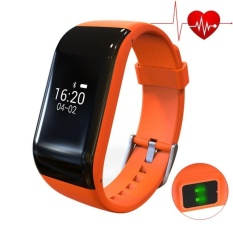 R1 Smart Bracelet Heart Rate Monitor Band Pedometer Olahraga Pelacak Aktivitas Monitor Kebugaran Watch Gelang-Intl