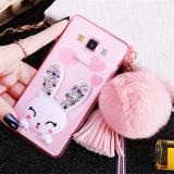 Beli Rabbit Diamond Samsung A5 A7 J5 J7 2015 Soft Case Back Cover Casing Hp Pake Kartu Kredit