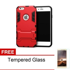 Radical Case Iphone 6 Plus Shield Armor Kickstand Avenger Series - Red + Free Tempered Glass