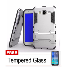 Radical Casing Armor Kickstand Series For Samsung Galaxy Grand Prime G-530 - Silver +