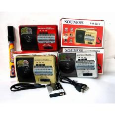 Radio Saku Souness SNI 637U 637 AM FM SW MP3 Pocket baterai Recharger bisa USB MMC - WARNA RANDOM