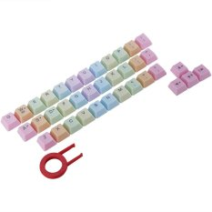 Spesifikasi Rainbow 37 Keycaps With Keycap Puller For Cherry Berkabut Mx Mekanis Keyboard Oem