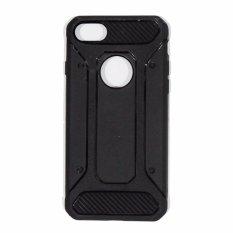 Rainbow Apple iPhone 7G Ukuran 4.7 inch Case Capsule Ultra Rugged Line Glossy Air Cushion Tecknologi Soft Back Case / Casing Belakang Handphone - Hitam