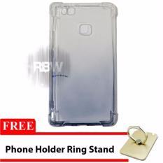 Rainbow Case Anti Crack Gradasi Huawei P9 Lite + FREE Phone Holder Ring / Jelly Soft Case / Softshe