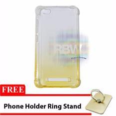 Rainbow Case Anti Crack Gradasi Xiaomi Redmi 4A + FREE Phone Holder Ring / Jelly Soft