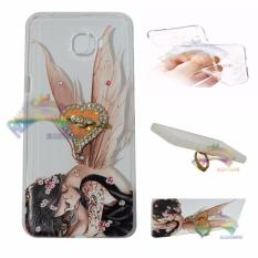Rainbow Case Samsung Galaxy C9 Pro Softshell Animasi Paint + Crystal Phone Holder Ring / Softshell