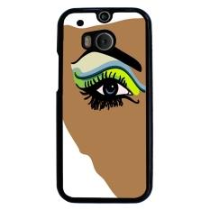 Rainbow Eye Pattern Phone Case for HTC One M8 (Black)
