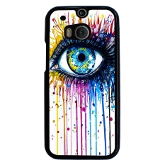 Rainbow Eye Pattern Phone Case for HTC One M8 (Multicolor)