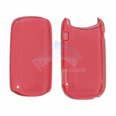 Rainbow Hardcase Samsung Caramel GT-E1272 Back Case Samsung E1272 - Transparant Red