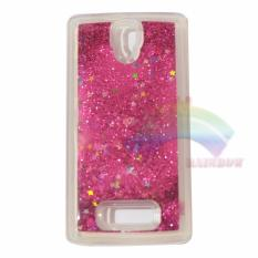 Rainbow Lenovo A2010 Soft Case Water Glitter Glowing Star TPU Silikon Back Cover / Ultrathin / Softshell / Jelly Case / Case Blink Blink / ase Beauty / Case Unik / Case Air Lucu / Casing Lenovo - Dark Pink