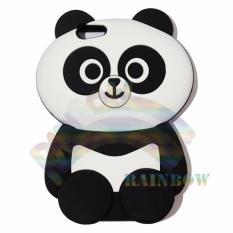 Rainbow Oppo A39 Silicone Softcase 3D Panda Chubby Boneka Imut / Case HP / Silikon HP / Softcase Kartun / Soft Back Case Unik Lucu / Case Karakter Funny  / Casing Hp / Casing Oppo - Panda Gemes