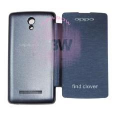 Rainbow Oppo Find Clover R815 Flip Cover / Leather Case / Sarung Handphone / Sarung Case / Flipcover Oppo R815 / Sarung Oppo - Biru Tua