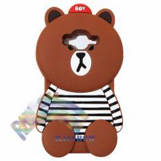 Rainbow Samsung Galaxy Grand Prime G530 Silicone Soft Back Case 3D Beruang Cokelat Lis Baju Garis H