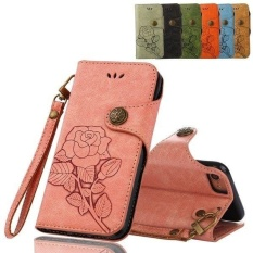Rainbow Site New Hot SALE Luxury Phone Bags Emboss Rose Retro PU Leather Flip Wallet coque for apple 5s 5G 6s SE 7 8 8 plus 5.5