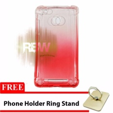 Rainbow Soft Case Anti Crack Gradasi Xiaomi Redmi 3S + FREE Phone Holder Ring / Jelly
