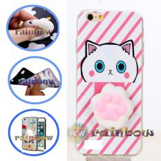 Rainbow SQUISHY Case Oppo Neo 7 A33 Squishy Claw Cat / Custom Case Squeeze Oppo Neo7 / Case Silikon 3D Squishy Oppo A33 / Silicone 4D Boneka / Case Unik / Casing Oppo - Cakar Kucing