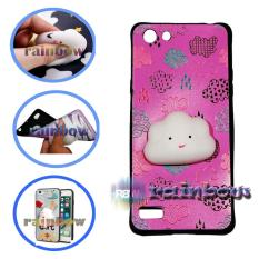 Rainbow SQUISHY Case Oppo Neo 7 A33 Squishy Cloud Pinky / Custom Case Squeeze Oppo Neo7 / Case Silikon 3D Squishy Oppo A33 / Silicone 4D Boneka / Case Unik / Casing Oppo - Awan