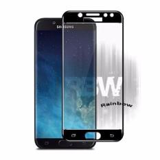 Rainbow Tempered Glass Samsung Galaxy J7 Pro / Temper Glass Full Screen Samsung J7 Pro Coverage Hitam / Anti Gores Kaca Screen Protector Samsung J7 Pro/ Screen Guard Pelindung Layar Samsung / Temper Samsung J7 Pro (Depan Only) - Full Black