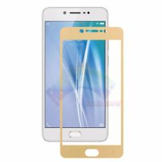 Rainbow Tempered Glass Vivo V5S Temper Full Gold Screen Coverage Anti Gores Kaca 9H Screen Protector Pelindung Layar Temper Glass Vivo V5S Depan Only Gold Original